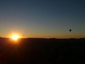 トルコ カッパドキアの夕日