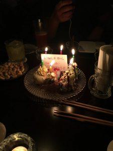 アイスケーキでお祝いしてくださいました。T^T