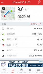 自転車の走行記録アプリ♪