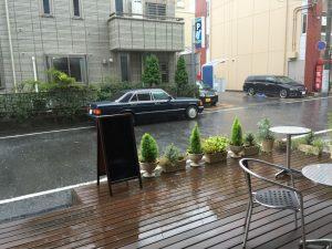 あいにくの雨…