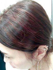ピンクベージュに染めてもらいました♡ ハイライトにも綺麗に色が入っていい感じ♡