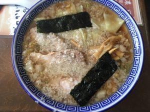 大山と食べたラーメン。大山は3種の濃厚煮干しラーメン。
