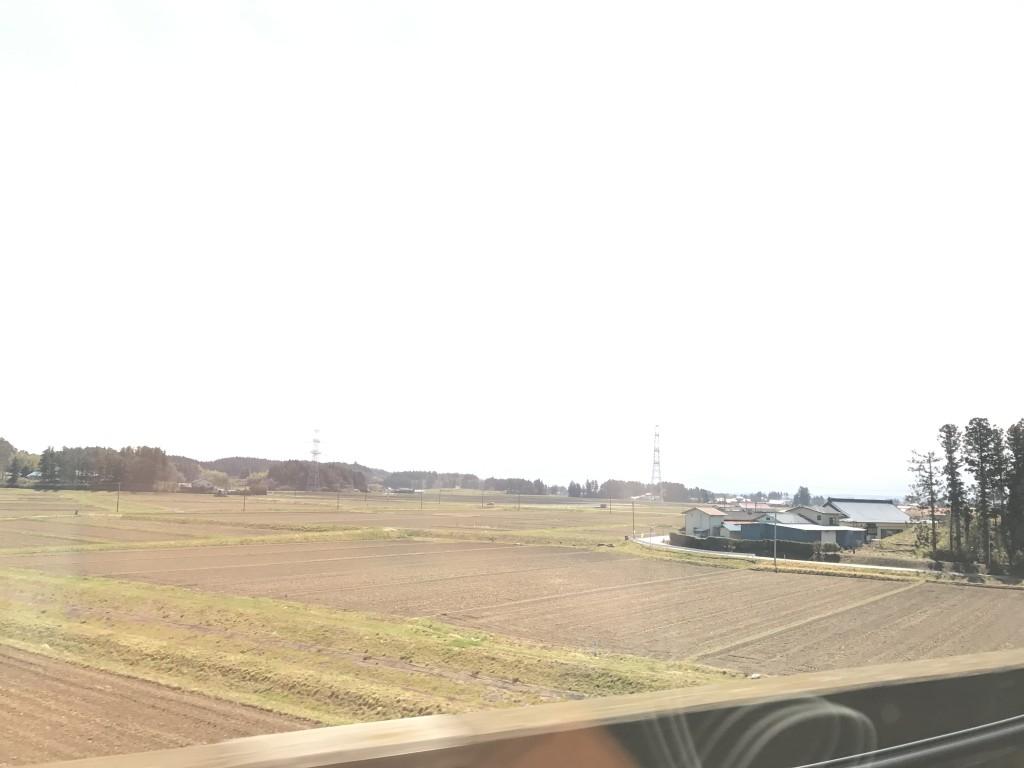 新幹線から見る景色