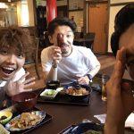 この3人組☆行く前に腹ごしらえ。僕の友達の店、柏にある「聖(まさ)」です!オススメ☆